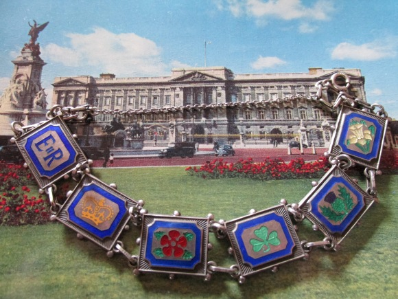 Sterling silver and enamel bracelet to commemorate the 1953 Coronation of Queen Elizabeth II, made in Birmingham (bought off TradeMe)