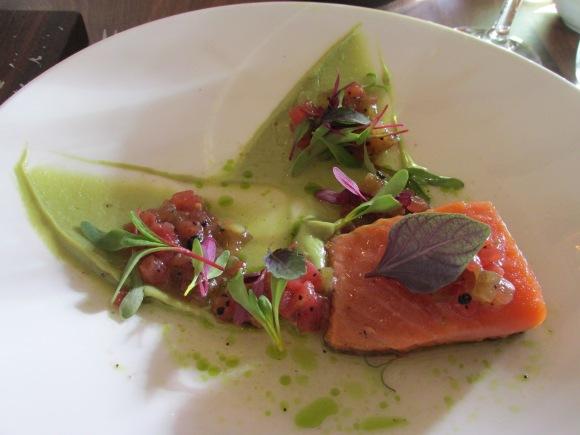 A delicious salmon entrée