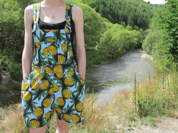 Pineapple 'Rhi-Rhi Dungarees' by Stolen Girlfriends Club from 47 Frocks, Wanaka