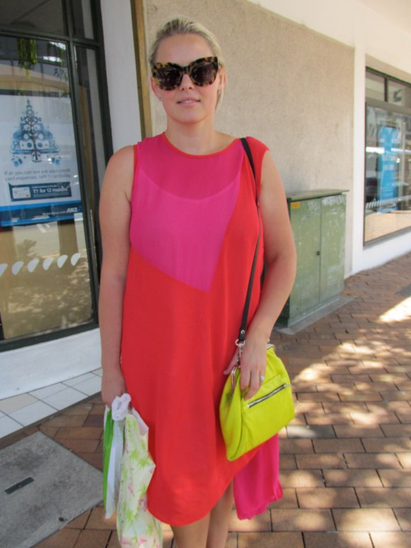 Jemma wears dress and bag by Company of Strangers, and sunglasses by Karen Walker.