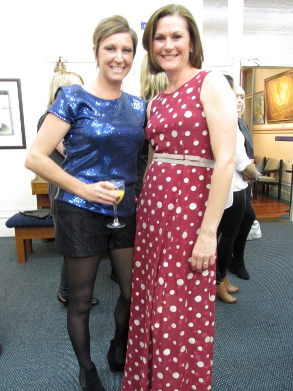 Nicky and Megan. Megan wears dress by Charmaine Reveley.