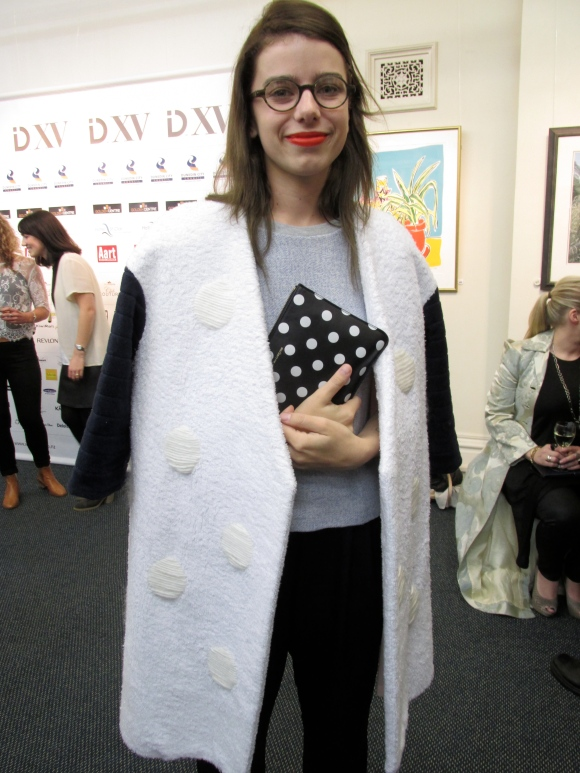 Emerging designer Tess (who also has the label '1989')