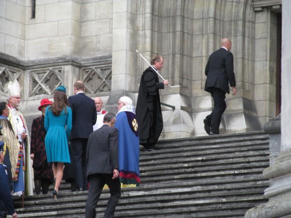 The Royal couple enter St Paul's.