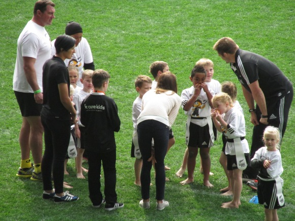 Half time team talk with Kate and Richie