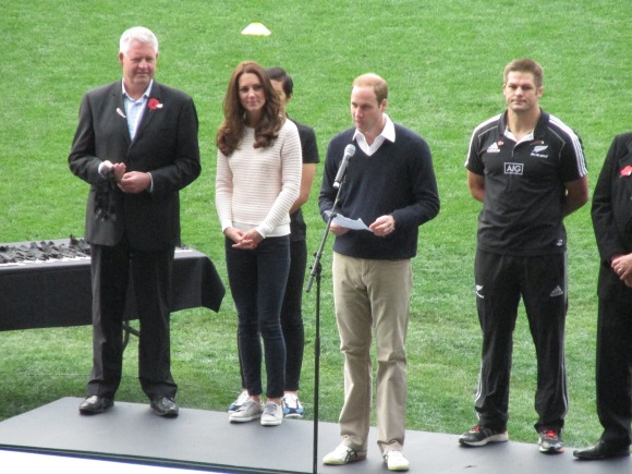 "Prince William makes a speech – he was impressed by ""the little rippas""."