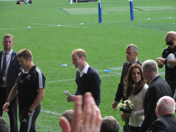 The Royal couple leave Forsyth Barr Stadium for their flight to Queenstown.