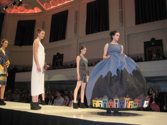 Mahshid Mahdian's 'Shadow' which won the iD Dunedin Fashion Inc 1st place award.