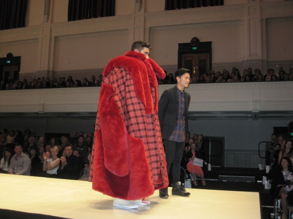 Chin Hau Tay with one of his 'Bewear Bear!' creations which won the Dunedin International Airport 3rd place award.