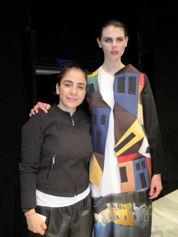 1st place Mahshid Mahdian with one of her 'Shadow' creations.