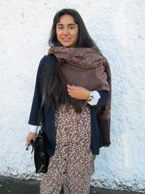 Shareen wears op-shop and scarf gifted to her by a friend in India.
