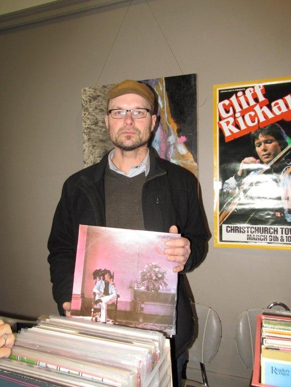 Darren holds Gram Parsons' 'GP' (1973)