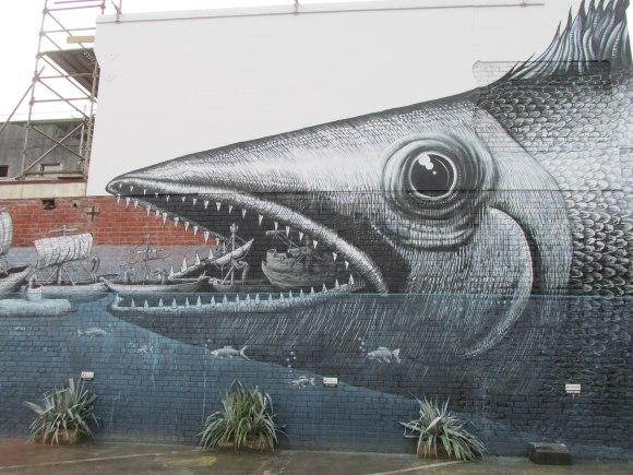 Vogel Street (by British street artist Phlegm, 2014)