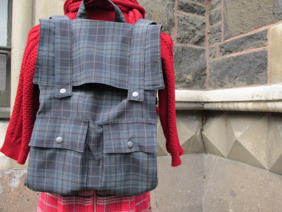 'Pitch tartan' backpack by NOM*d