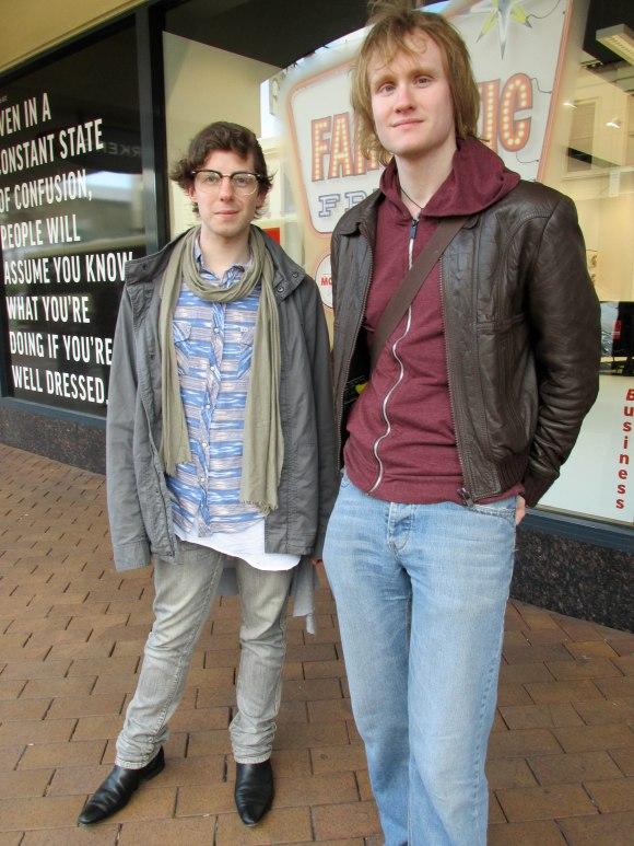 Sam and Matt wear Hallensteins.