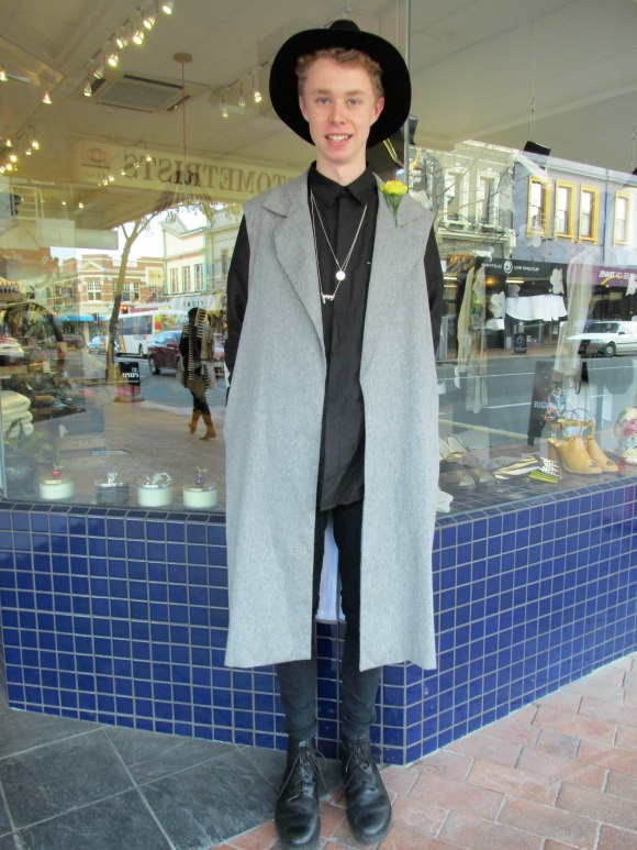 Patrick wears shirt and shoes by Stolen Girlfriends Club, jacket by Georgia Alice, hat by Brixton and necklaces by Creeps and Violets and Celeste Tesoriero. He has a blog at http://paddymac-styleplease.tumblr.com/