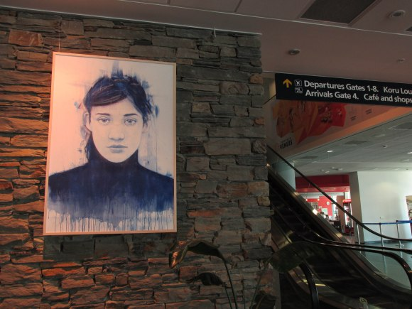 Artist in the Terminal, Dunedin Airport: Dunedin's own Jon Thom