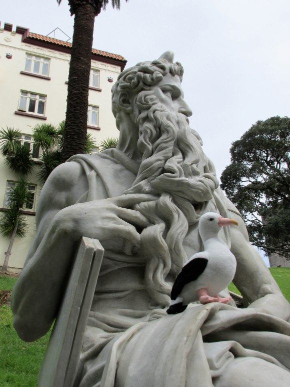 Copy of Michelangelo's Moses statue in Myers Park, Auckland