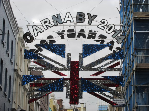 Union flag installation, Carnaby Street, Soho