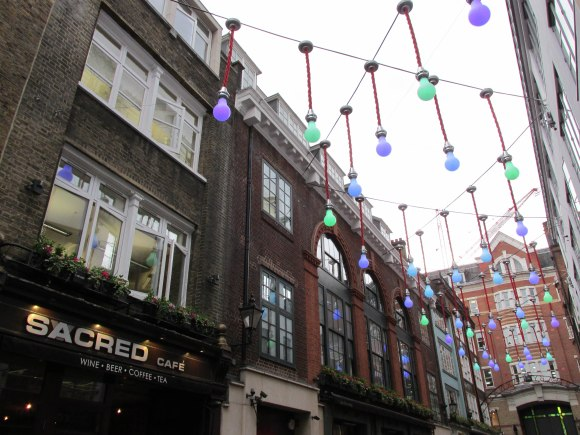 Sacred Cafe, Ganton Street, Soho, London