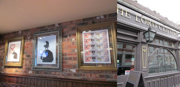 The Lord Clifton, Harborne, Birmingham (featuring street art including Banksy)