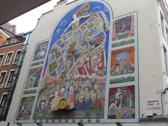 Soho mural, Broadwick Street, Soho, London