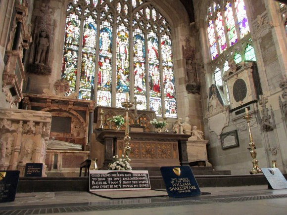 William Shakespeare's grave, Holy Trinity Church, Stratford-upon-Avon