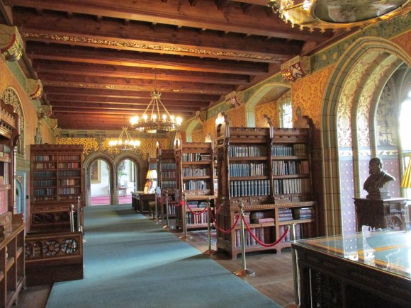 Cardiff Castle apartment library