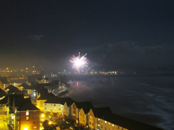 Fireworks over Swansea Bay, Guy Fawkes Night