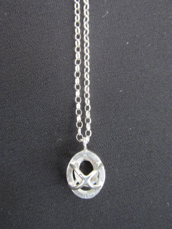 Solitaire necklace from 'Absence' collection
