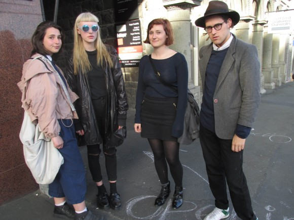 Kimmi, Alannah (model for the 'Absence' collection), Sarah and Zac