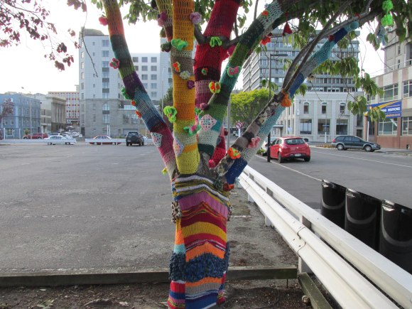 Vogel Street  - yarn bombing may be an all-year-round thing but this tree looks very festive!