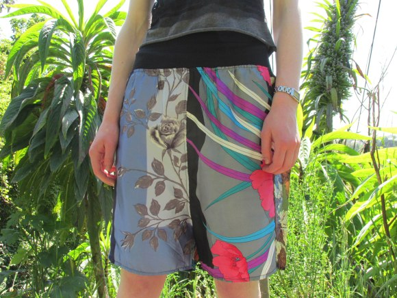 Shorts by NOM*d (upcycled from vintage scarves) from Plume (George Street)