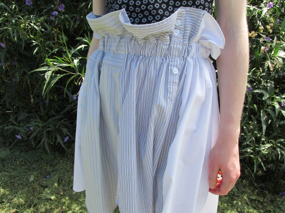 Upcycled shirt skirt by Melanie Child