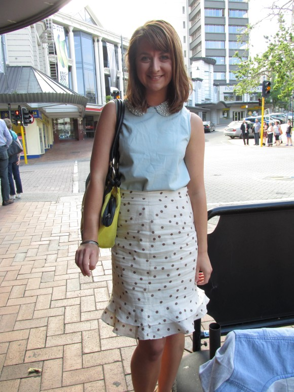 Meg wears top by Max and op-shop skirt.
