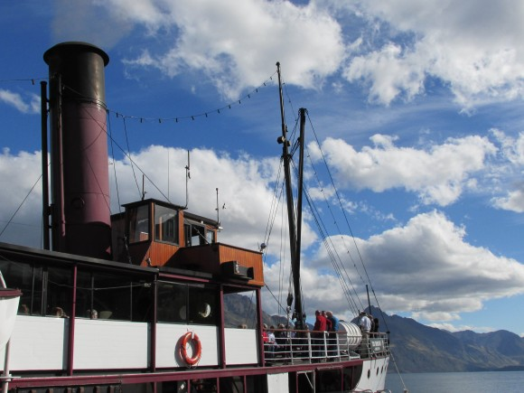 TSS Earnslaw (with a fresh lick of plum-coloured paint!)