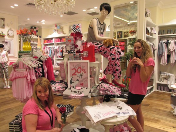 Alice and Courtney of Peter Alexander, Meridian Mall
