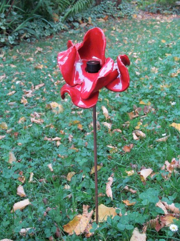 Ceramic poppy from 'Blood Swept Lands and Seas of Red'